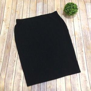 Apt. 9 | Black Textured Pencil Skirt Extra Large
